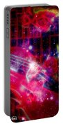 Neons Violin With Roses With Space Effect Portable Battery Charger