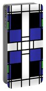 Neoplasticism Symmetrical Pattern In Sapphire Blue Portable Battery Charger