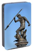 Neptune Statue In Gdansk Portable Battery Charger