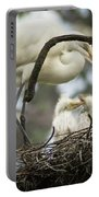 Nesting Egret Portable Battery Charger