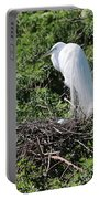 Nesting Great Egret With Egg Portable Battery Charger