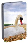 Nesting Mute Swan At Abbotsbury - Impressions Portable Battery Charger