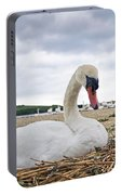 Nesting Mute Swan At Abbotsbury Portable Battery Charger
