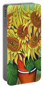Never Enough Sunflowers Portable Battery Charger by Andrea Folts