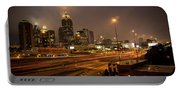 Never Sleeping Atlanta In Motion Midtown Light Trails Art Portable Battery Charger