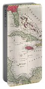 New And Accurate Map Of The West Indies Portable Battery Charger by American School
