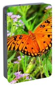 Windows From Heaven Orange Butterfly Portable Battery Charger