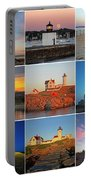 New England Lighthouse Collage Portable Battery Charger