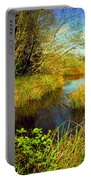 New Growth At The Pond Portable Battery Charger