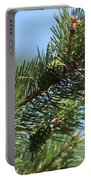 New Growth Pinecone At Chicago Botanical Gardens Portable Battery Charger