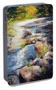 New Hampshire Creek In Fall Portable Battery Charger