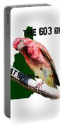 New Hampshire State Bird The Purple Finch Portable Battery Charger