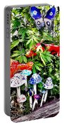 New Hope Pa - Garden Of Ceramic Mushrooms Portable Battery Charger