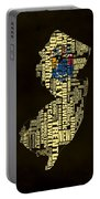 New Jersey Typographic Map 02 Portable Battery Charger
