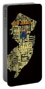 New Jersey Typographic Map 4g Portable Battery Charger