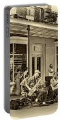 New Orleans Jazz 2 - Sepia Portable Battery Charger