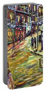 New Orleans Jazz Night By Prankearts Fine Art Portable Battery Charger