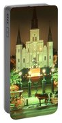 New Orleans Night Photo - Saint Louis Cathedral Portable Battery Charger