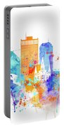New Orleans Watercolor Skyline Portable Battery Charger
