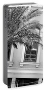 New Orleans Windows - Black And White Portable Battery Charger
