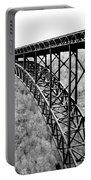New River Gorge Bridge Bw Portable Battery Charger
