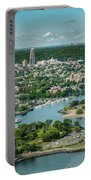 New Rochelle From The Long Island Sound Portable Battery Charger