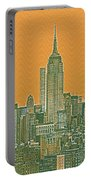 New Tork City Ny Travel Poster 4 Portable Battery Charger