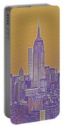 New Tork City Ny Travel Poster 5 Portable Battery Charger