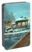 Triangle Park In Winter Portable Battery Charger