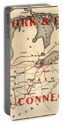 New York And Erie Railroad Map 1855 Portable Battery Charger