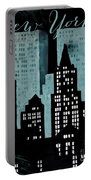 New York Art Deco Portable Battery Charger