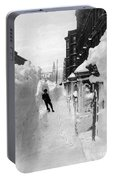 New York: Blizzard Of 1888 Portable Battery Charger