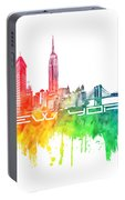 New York City Skyline Color Portable Battery Charger