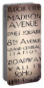 New York City Street Sign Portable Battery Charger