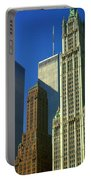 New York City - Woolworth Building And World Trade Center Portable Battery Charger