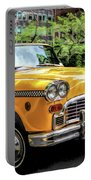 New York City Yellow Checker Taxicab Portable Battery Charger