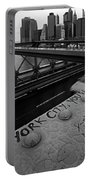 New York City You're Beautiful Brooklyn Bridge Ny Black And White Portable Battery Charger
