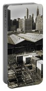 Old New York Harbor Skyline Portable Battery Charger