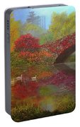 New York In Fall Portable Battery Charger
