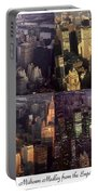 New York Mid Manhattan Medley - Photo Art Poster Portable Battery Charger