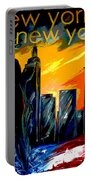 New York Night Skyline Portable Battery Charger