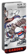 New York Rangers 1960 Program Portable Battery Charger