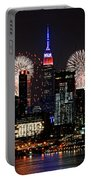 New York Skyline And Fireworks Portable Battery Charger