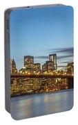 New York Skyline - Brooklyn Bridge Panorama Portable Battery Charger