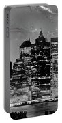 New York Skyline Bw Portable Battery Charger