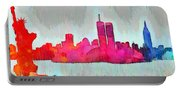 New York Skyline Old Shapes - Da Portable Battery Charger