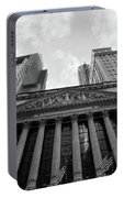 New York Stock Exchange Black And White Portable Battery Charger