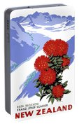 New Zealand Rata Blossom Vintage Travel Poster Portable Battery Charger