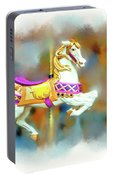 Newport Beach Carousel Horse Portable Battery Charger