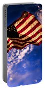 Newport Beach Sunset On Old Glory Portable Battery Charger